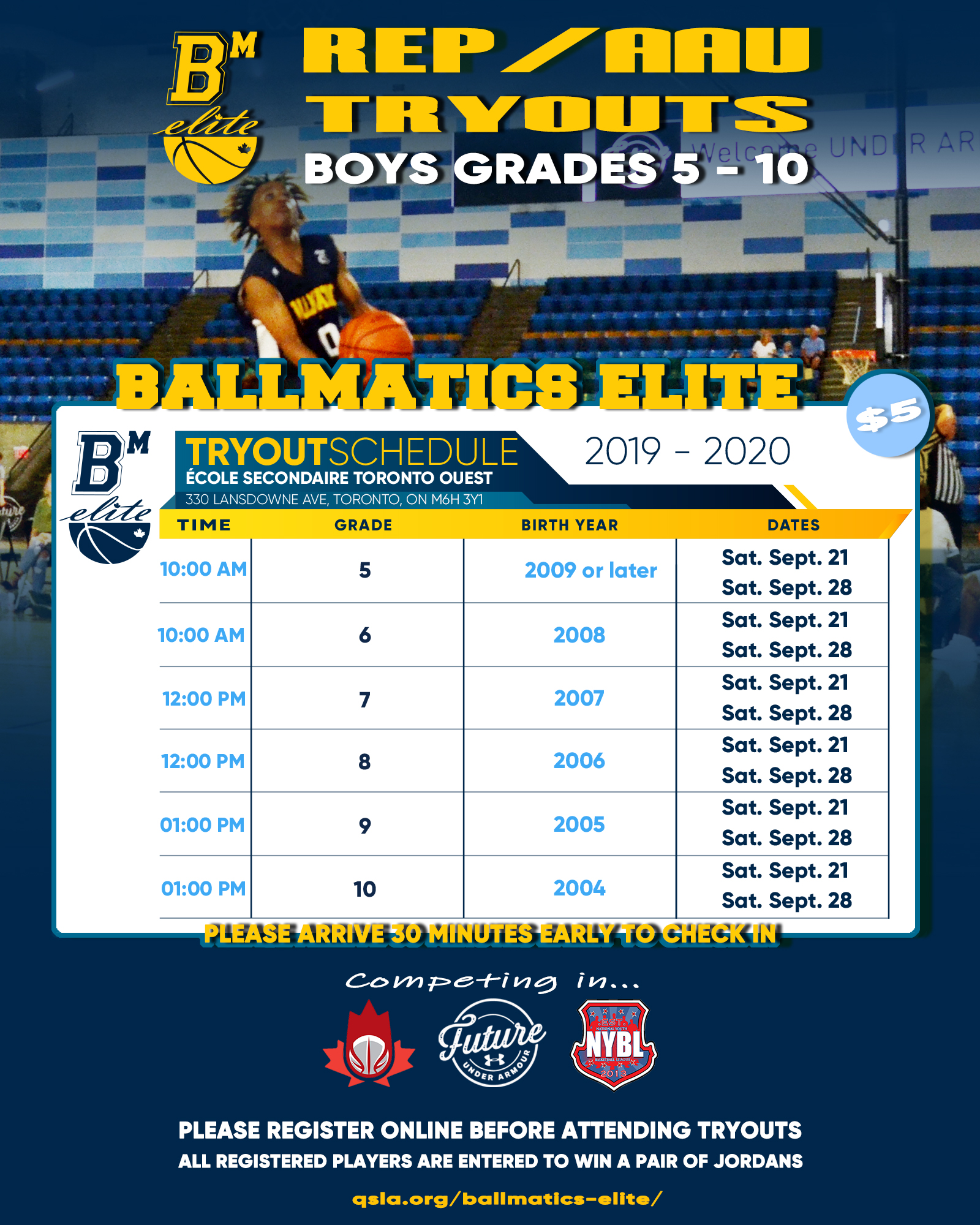 REP AAU Basketball Tryouts - BallMatics Elite Tryout Schedule
